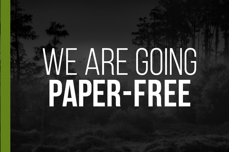 We are going Paper-free